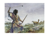 Ice Age Hunter Uses a Bola and a Wooden Spear to Hunt Llama-Like Prey  1997