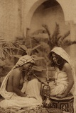 Harem Girls Smoking a Hookah  from an Early 20th Century Postcard
