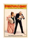 Poster Advertising a Production of 'Other People's Money'  Printed by the Russell Morgan Print…