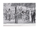 British Forces Marching into Cape Town  Illustration from 'Hutchinson's Story of the British…