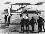 Squadron Commander Edwin Dunning Landing a Sopwith Pup on Board HMS Furious  2nd August  1917
