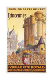 Travel Poster of the Chemin de Fer de l'Est Advertising Trips to Vincennes  c1920