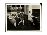 Group of Three Young Blind Women  One at the Piano  Two Playing Violins  at the New York…