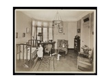 A Girl Holding a Candle  Climbing into a Crib  in a Bedroom of the AC Cronin Residence  1915-16