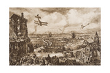 Holding Up a German Attack  Armentieres  Belgium  Illustration from 'The Outline of History' by…