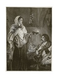 Florence Nightingale in the Hospital at Scutari  Illustration from 'Cassell's Illustrated History…