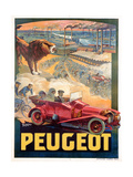 Advertisement for Peugeot  Printed by Affiches Camis  Paris  c1922