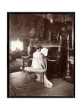 Mrs I M Clark at the Piano  1904
