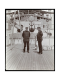 Rear Admiral Robley Dunglison Evans and Captain John Elliott Pillsbury on the Deck of the USS…