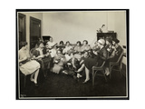 Group of Young Blind Women Playing Ukeleles at the New York Association for the Blind  111 East…
