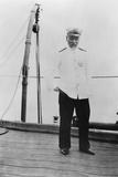 Admiral Togo Heihachiro on Board the Japanese Battleship 'Nuikasa  Early 20th Century