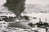 Aerial View of Battleship Row  Pearl Harbor  7th December  1941
