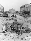 "Truemmermaenner (""Rubble Men"") at Unter Den Linden  Berlin  June 1946"