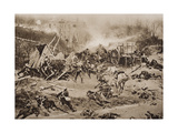 The Battle of Champigny  30th November 1870  Illustration from 'The Outline of History' by HG…