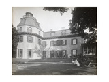People Seated in Chairs on the Lawn in Front of the Astor Chanler Residence at Barrytown  New…