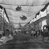 The Decorations in the Main Street  Singapore  Illustration from 'The King'  May 25th 1901