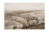 Quebec Bridge over the St Lawrence River  Canada  Illustration from 'The Outline of History' by…