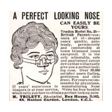 Advertisement for a 'Nose Shaper'  1900s