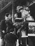 Queen Alexandra Handing a Special Cup to Dorando to Commemorate His Great Effort to Win the…