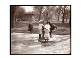 Five Children Playing and Drinking at Fountain in Madison Square  New York  1901