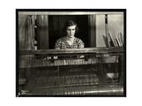 Blind Young Woman Working at a Loom at the New York Association for the Blind  111 East 59th…