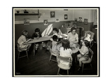 Young Blind / Visually Impared Children with a Female Teacher in the Nursery at the New York…