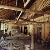 Community Gallery Space Inside a Bidayuh Longhouse