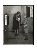 Nurse and a Boy Patient Having an Eye Test at the New York Association for the Blind  111 East…