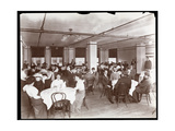 View of Men and Women Dining in a Cafeteria at Parke  Davis and Co  Chemists  Hudson and Vestry…