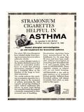Advertisement for 'stramonium Cigarettes'  1960s