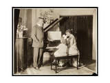 Robert Edeson  His Wife and Daughter at the Piano  c1915