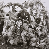 Melanau  or Sea Dayak Wearing Masks During a Festival c1960