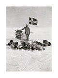 Captain Roald Amundsen at the South Pole  1912  from 'The Year 1912'  Published London  1913