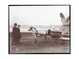 Two Men  Pony and Cart  New York  1910 or 1911