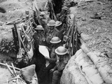 Reading a Newspaper in the Trenches  1916-17