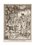 St Augustine Preaching to Ethelbert  Illustration from 'A History of England' by CRL Fletcher…