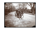 Anna Held and Florenz Ziegfeld Driving a Horsedrawn Carriage  New York  1904