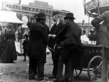 Funfair on Market Street  Kidderminster  1900