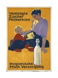 Swiss Poster Promoting the Dairy Industry  Printed by Graph Anstalt Je Wolfensberger  Zurich  1915