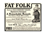 Advertisement for 'Fell's Reducing Tablets'  1910s