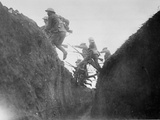 Troops in Training  Jumping over a Trench  1916-17