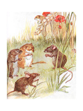 'Am Staying with Friends in the Country'  Illustration from 'The Mischievious Mousie Book' …
