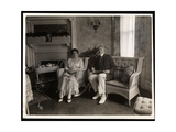 Portrait of Mr and Mrs Howard Seated Posed in a Sitting Room in their Home at 200 5th Avenue …