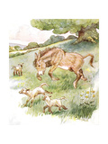 'I Romped All Day in the Sunny Meadow with the Silly Little Lambs'  Illustr