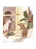 'Saw a Prison and in it the White Ghost of a Mouse'  Illustration from 'The Mischievious Mousie…
