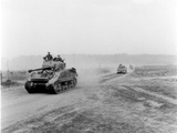 Tanks on the Move to Vire over the Tank Runs  c1945