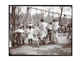 Women and Children at the Swings on Arbor Day  Tompkins Square Park  New York  1904