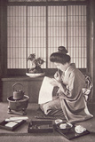 Japanese Woman Writing  1933