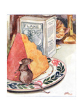 'Having a Bit of Supper - Prime Stilton'  Illustration from 'The Mischievious Mousie Book' …