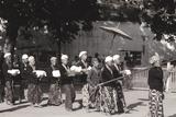 Palace Attendants Carrying Offerings to Yogyakarta Palace  1980